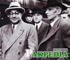 Liaquat Ali Khan with Quaid-e-Azam