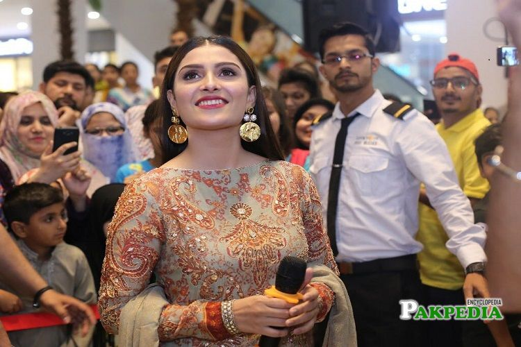 Ayeza Khan during promotion of Alkaram