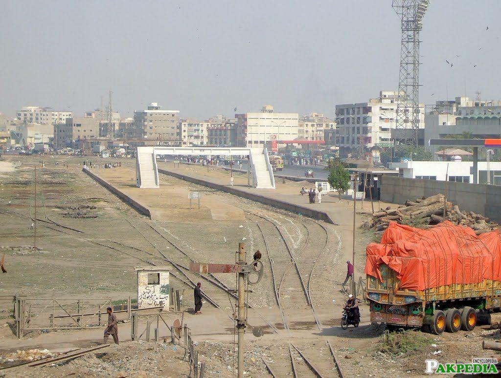 Chak Jhumra Rail Track