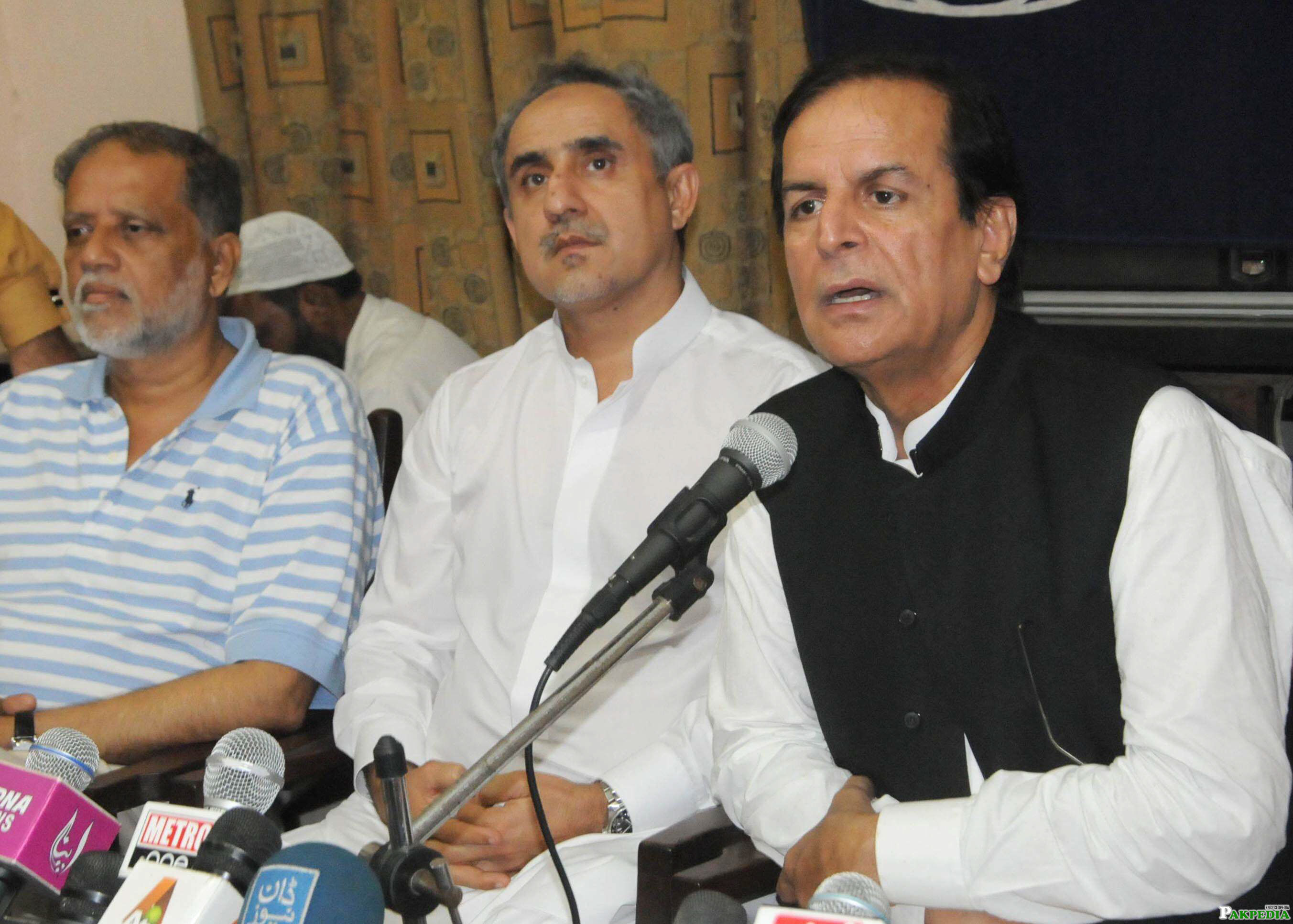 Javed hashmi in press conferenc