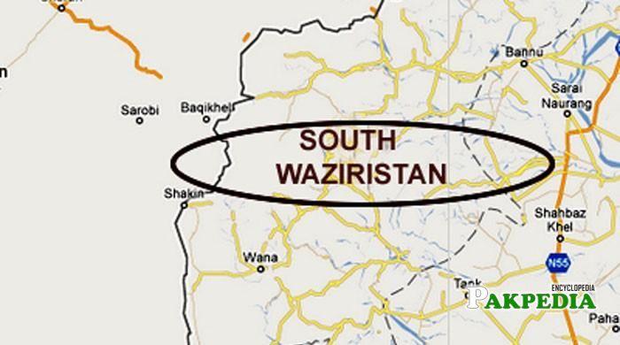 Map of South Waziristan