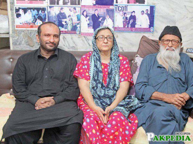 Bilquis Edhi with Abdul Sittar Edhi and Son