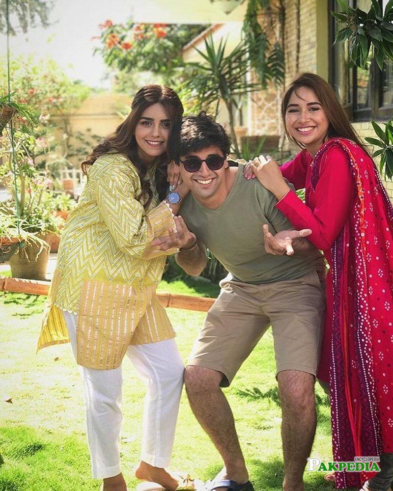 Sabeena Farooq on sets of 'Suno chanda 2'
