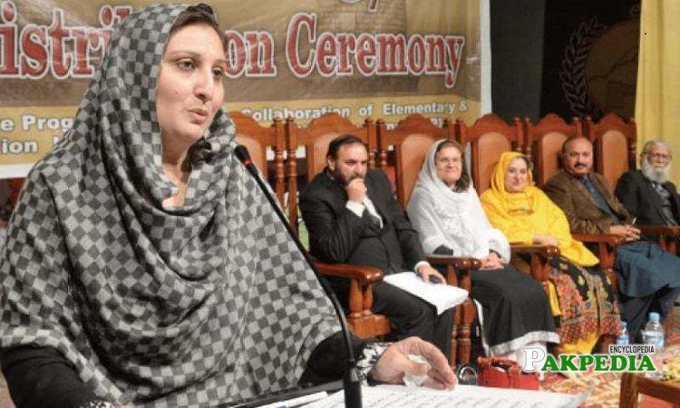 Aisha Naeem in an event
