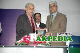 SBA while receiving honorary shield