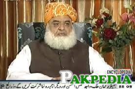 Fazal-ul-Rehman interviewing Geo News