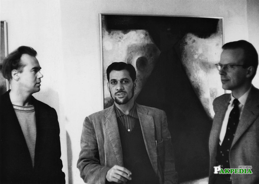 Victor Musgrave, Anwar Jalal Shemza and the art critic George Butcher