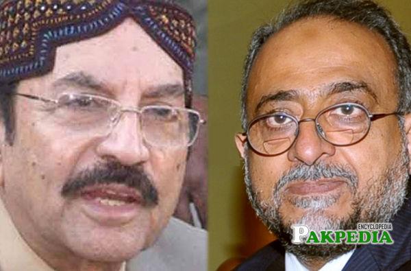 Syed Qaim Ali shah met Former Chief justice of Pakistan