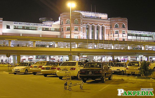Allama Iqbal Airport outside View