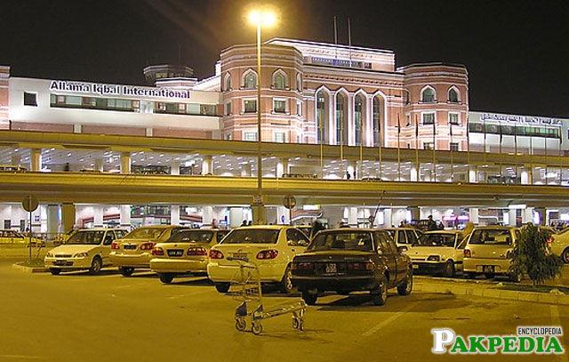Allama Iqbal Airport outside View