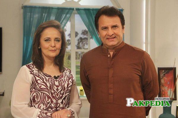 Behroze Sabzwari and Hina Khawaja Bayat