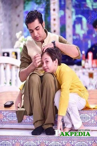 Pehlaj with his father on sets