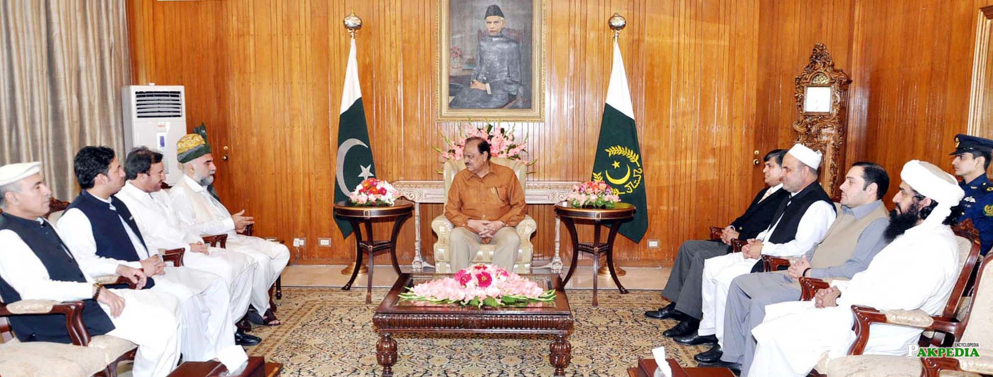meeting with Mamnoon Hussain and other Leaders