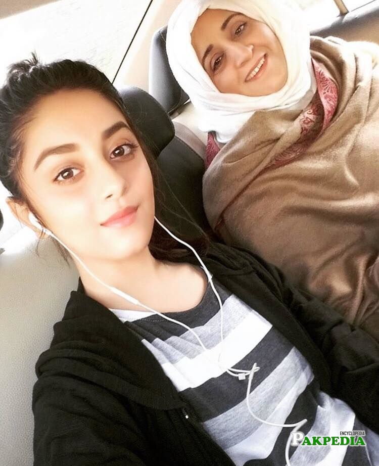 Alizey Shah with her mother