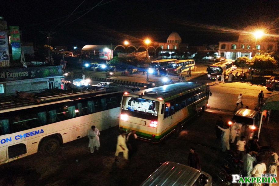 Niazi Express inside the terminal