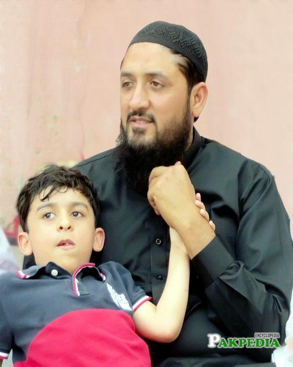Abid Raza with his son Abdullah Raza