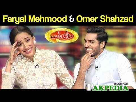 Faryal Mehmood on sets of Mazaqraat