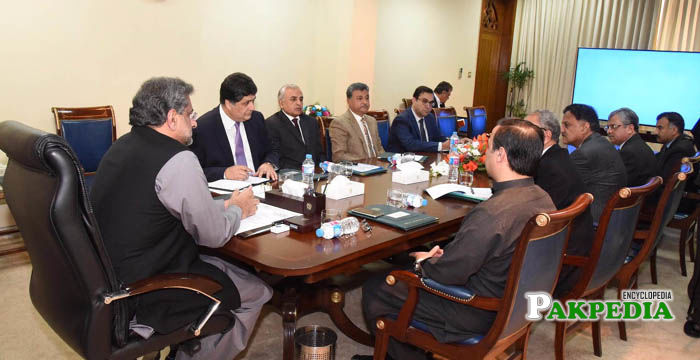 Prime Minister Shahid Khaqan Abbasi Chairs Meeting on Mass Transit System at Prime Minister Office in Islamabad