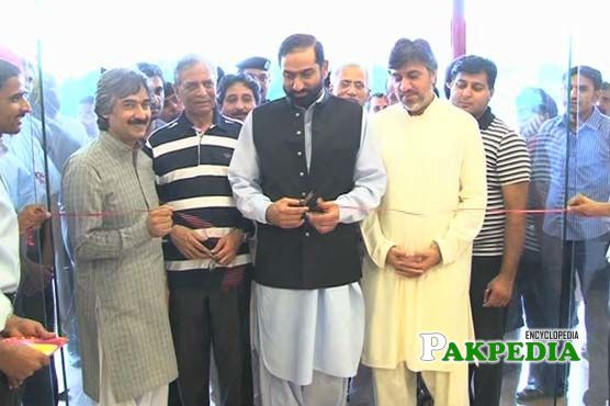 At an inauguration ceremony