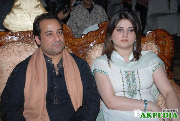 Rahat Fateh Ali Khan With His Wife