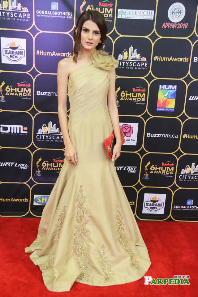 Zubab Rana during 6th Hum Awards