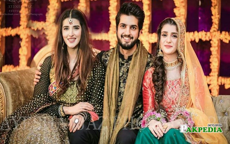 Abdullah qureshi with wife and cousin