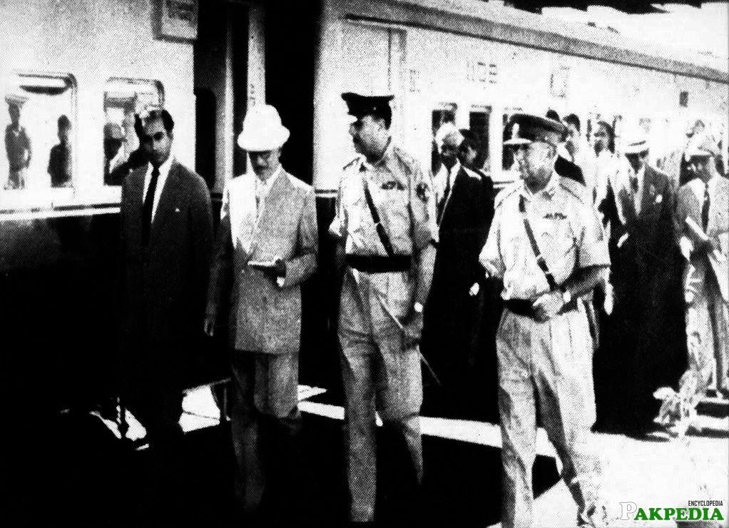 Yahya Khan at Railway Station