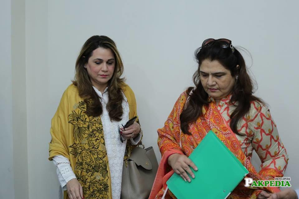 Irum with Munazza Khoso