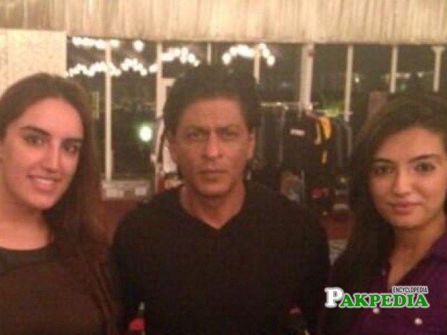 With Shahrukh khan in Dubai