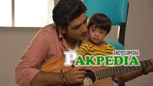 Ali Hamza with his son