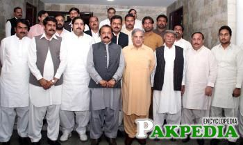 With Shahbaz Sharif and other members