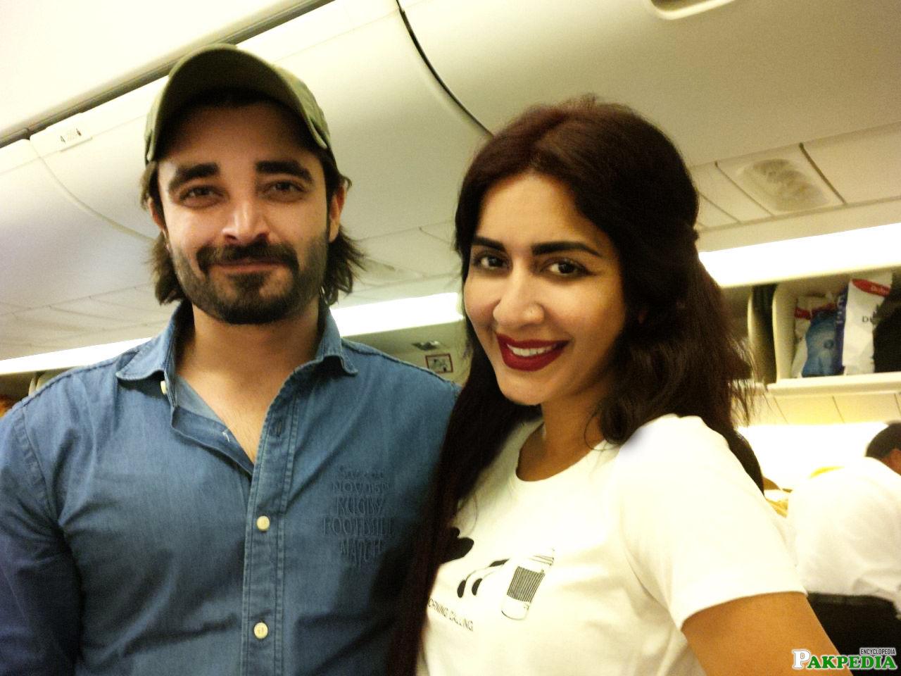 Saman Ansari With Hamza Ali Abbasi
