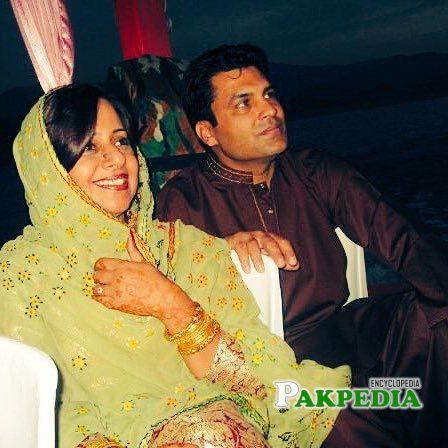 with Husband Saeed Khan