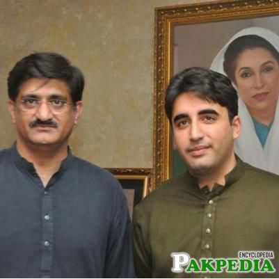 Syed Murad Ali Shah With Bilawal Bhutto Zardari