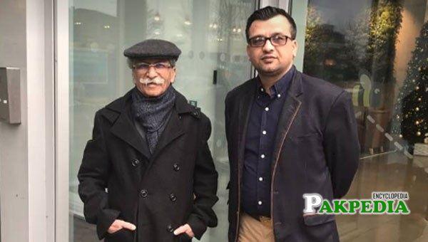 Rana Muhammad Iqbal Khan with his son