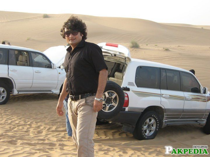 Danish Nawaz some where in Desert