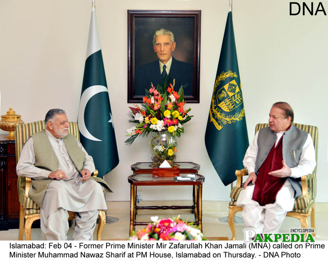 With Prime Minister Nawaz Shareef