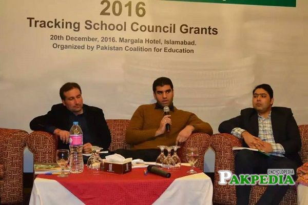 Malik Taimoor Masood at Tracking School Council