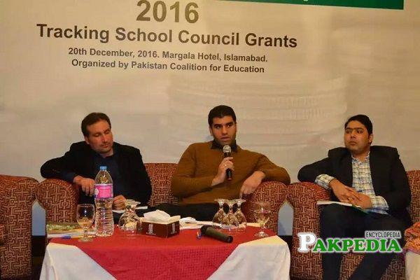 Malik Taimoor Masood at Tracking School Council