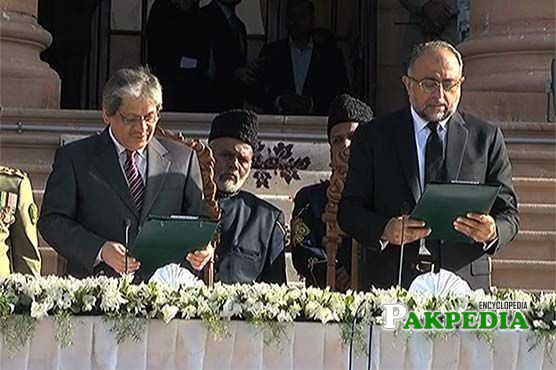 While taking oath as Chief justice