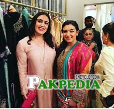 With Bakhtawar Bhutto at the launch of brand