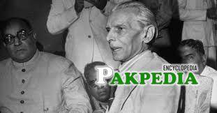Jinnah in an address