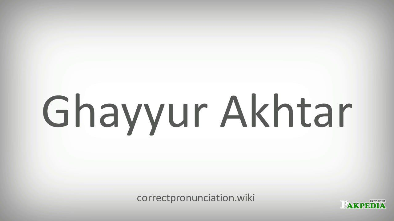 Ghayyur Akhtar was a big name of Pakistani showbizz