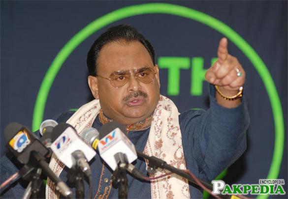 Altaf Hussain in Jalsa