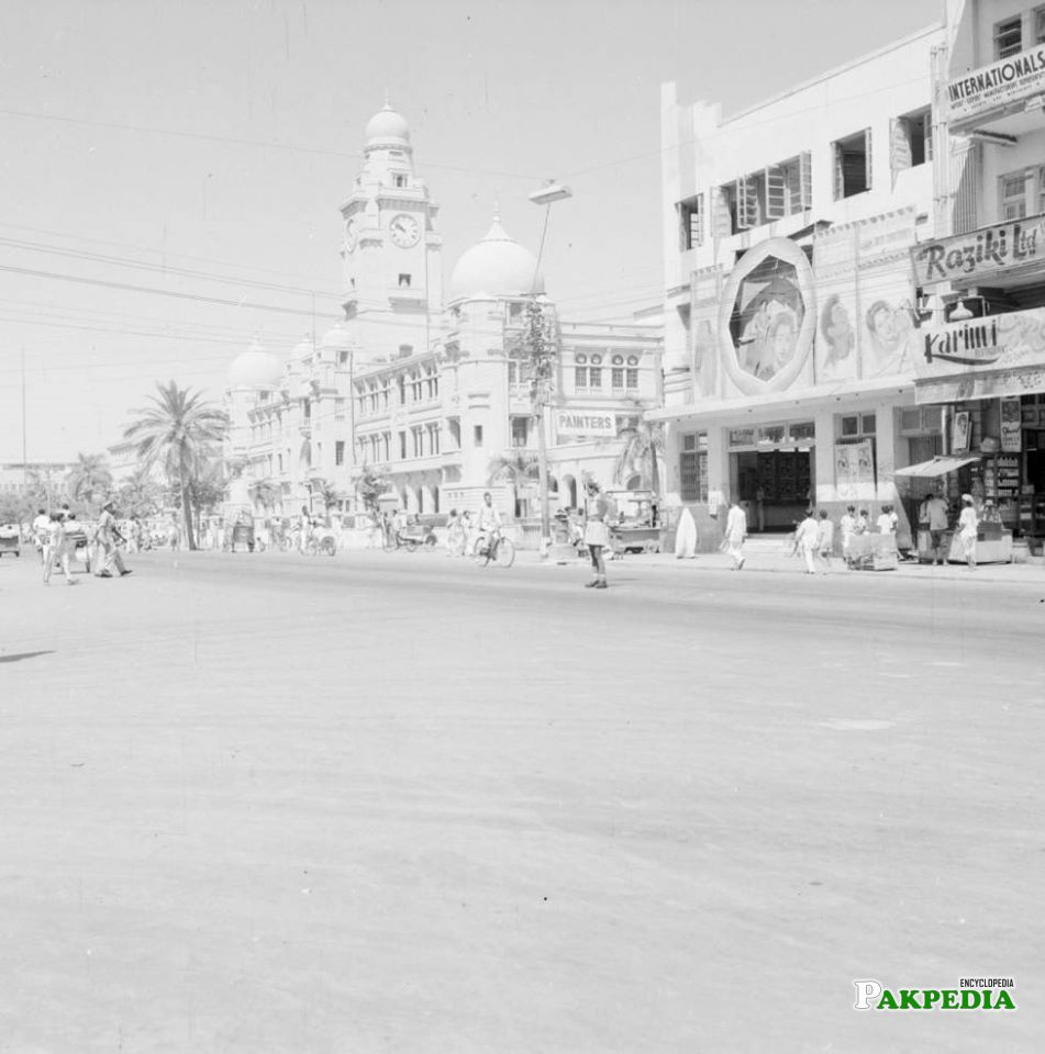 KMC building on MA Jinnah Road Karachi - 1952