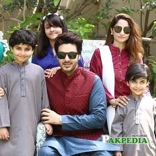 Ahsan khan with family