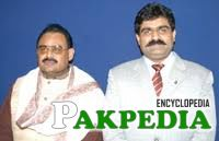 With Altaf Hussain