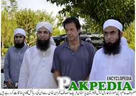 Mulana with Imran Khan and Compainions