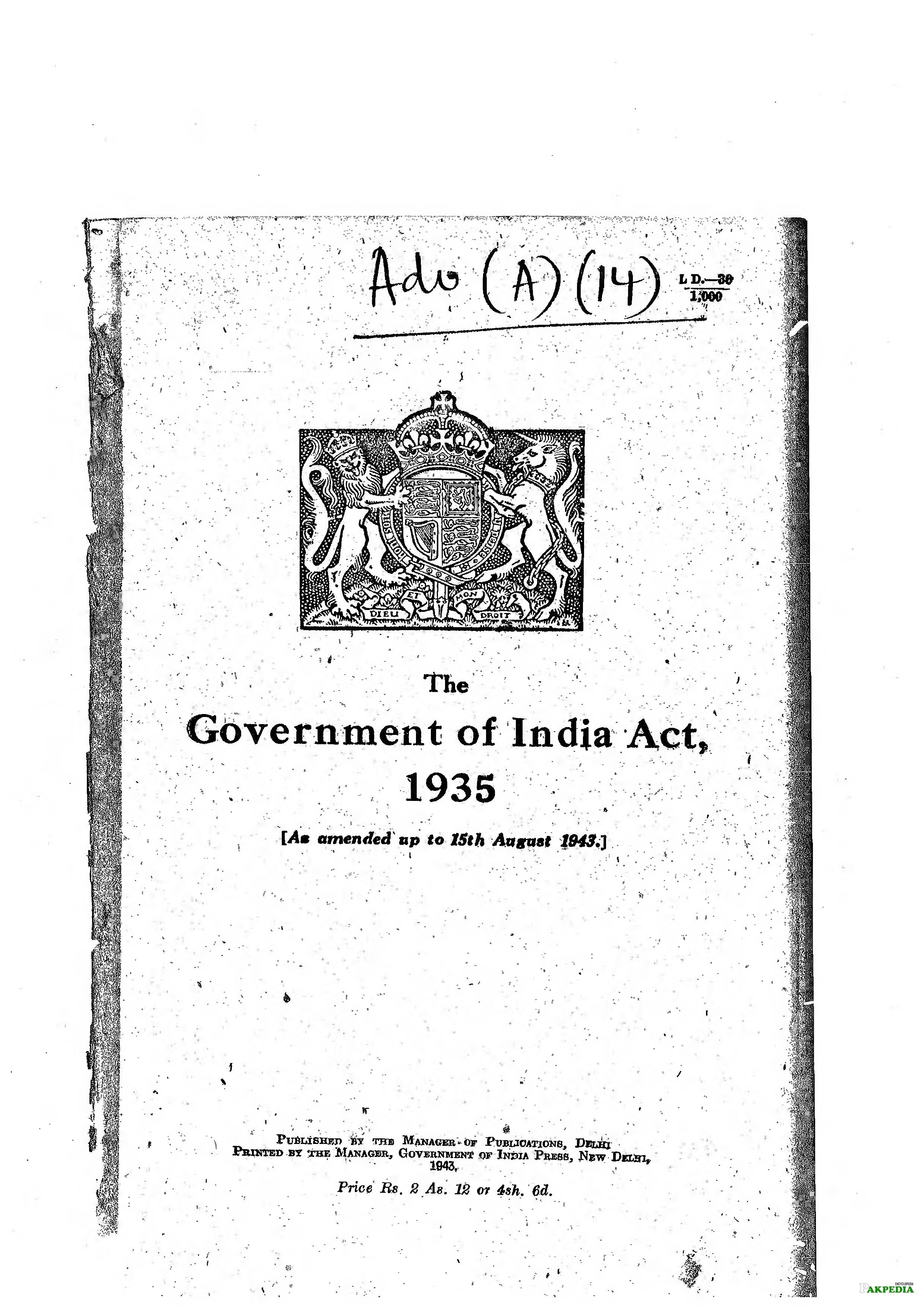 India Act of 1935