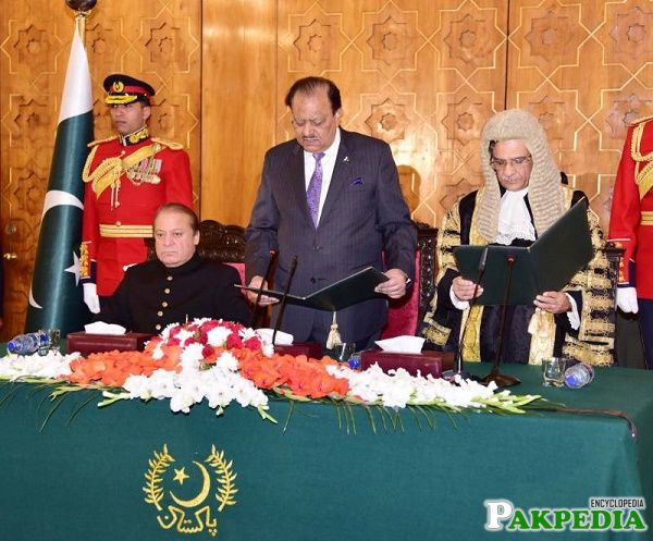Mian Saqib Nisar Taking oath